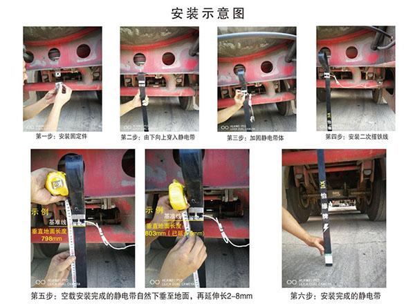 汽车静电带:防静电拖地带安装标准?