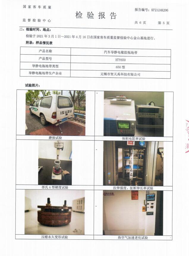 HTY650型检验报告